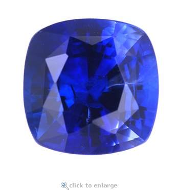 2.50 Carat 8mm Cushion Cut Square Blue Sapphire Lab Created Synthetic Loose Stone