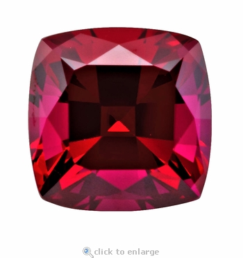 2.50 Carat 8x8mm Cushion Cut Square Ruby Lab Created Synthetic Loose Stone