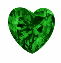2.50 Carat 9mm Heart Shape Emerald Lab Created Simulated Loose Stone