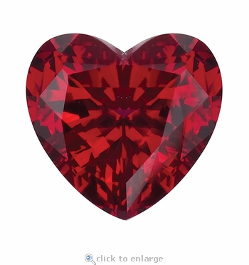2.50 Carat 9mm Heart Shape Ruby Lab Created Synthetic Loose Stone