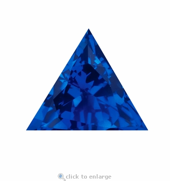 2.50 Carat 9mm Trillion Triangle Blue Sapphire Lab Created Synthetic Loose Stone