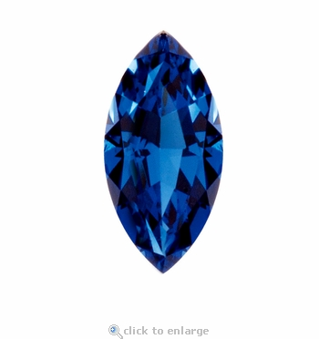 2 Carat 12x6mm Marquise Blue Sapphire Lab Created Synthetic Loose Stone