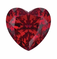 2 Carat 8mm Heart Shape Ruby Lab Created Synthetic Loose Stone