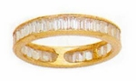 3.5mm Small Channel Set Cubic Zirconia Baguette Eternity Band