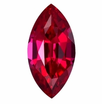 3 Carat 14x7mm Marquise Ruby Lab Created Synthetic Loose Stone