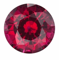 3 Carat 9.5mm Round Ruby Lab Created Synthetic Loose Stone