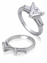 3 ct. Trillion Baguette Solitaire With Matching Band
