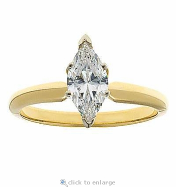 4.5 Carat Marquise Cubic Zirconia Classic Solitaire Engagement Ring