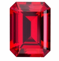 4 Carat 10x8mm Emerald Cut Ruby Lab Created Synthetic Loose Stone