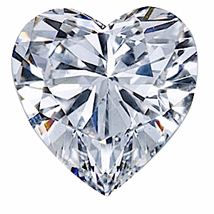 4 Carat 11mm Heart Cubic Zirconia Loose Stone