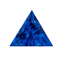 4 Carat 11mm Trillion Triangle Blue Sapphire Lab Created Synthetic Loose Stone
