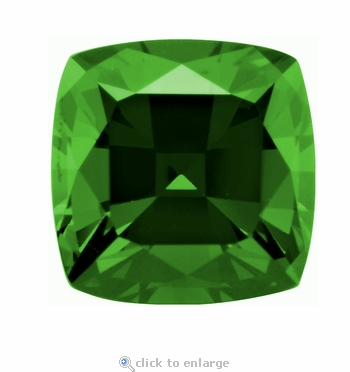 4 Carat 9mm Cushion Cut Square Emerald Lab Created Simulated Loose Stone