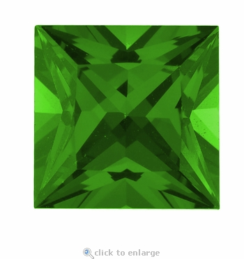 4 Carat 9mm Princess Cut Emerald Lab Created Simulated Loose Stone