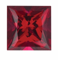 4 Carat 9mm Princess Cut Ruby Lab Created Synthetic Loose Stone