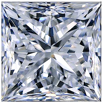 4 Carat 9mm Princess Cut Square Cubic Zirconia Loose Stone