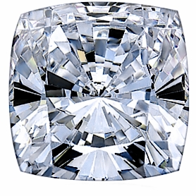 4 Carat 9x9mm Cushion Cut Square Cubic Zirconia Loose Stone