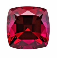 4 Carat 9x9mm Cushion Cut Square Ruby Lab Created Synthetic Loose Stone