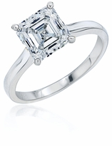 4 Carat Asscher Cut Cubic Zirconia Cathedral Solitaire Engagement Ring