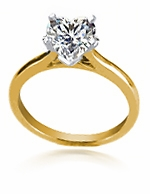 5.5 Carat Heart Shaped Cubic Zirconia Cathedral Solitaire Engagement Ring