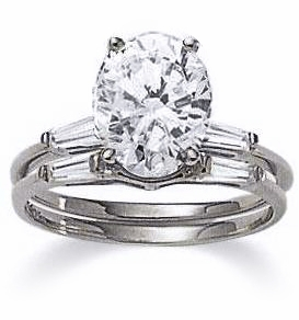 5.5 ct. Oval Baguette Solitaire With Matching Band