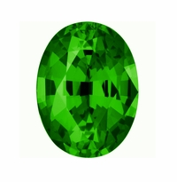 5.50 Carat 14x10mm Oval Green Emerald Lab Created Simulated Loose Stone