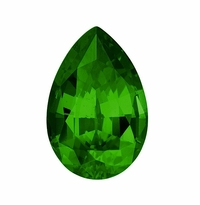 .50 Carat 6x4mm Pear Emerald Lab Created Simulated Loose Stone