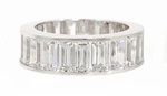 6.75mm Grand Channel Set Cubic Zirconia Baguette Eternity Band