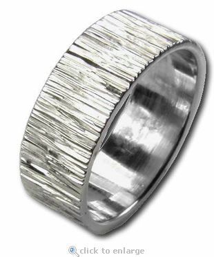 6 Millimeter Guilloche Hand Engraved Unisex Comfort Fit Wedding Band