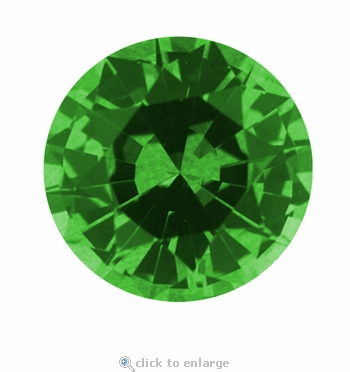 .63 Carat 5.5mm Round Green Emerald Lab Created Simulated Loose Stone