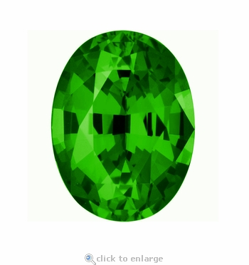 .75 Carat 7x5mm Oval Green Emerald Lab Created Simulated Loose Stone
