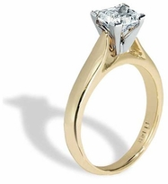 .75 Carat Princess Cut Cubic Zirconia Cathedral Solitaire Engagement Ring