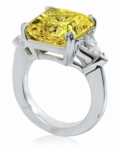 Laurent 8.5 Carat Princess Cut Split Prong Set and Trillion Cubic Zirconia Engagement Ring