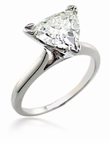 8.5 Carat Trillion Triangle Cubic Zirconia Cathedral Solitaire Engagement Ring