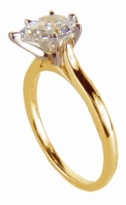 9 Carat Pear Cubic Zirconia Cathedral Solitaire Engagement Ring