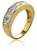 Alliance Princess Cut Cubic Zirconia Channel Set Wedding Band Ring