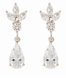 Anastasia 1.5 Carat Cubic Zirconia Pear Marquise and Round Drop Earrings