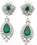 Anastasia 5 Carat Pear Cubic Zirconia Cluster Drop Earrings
