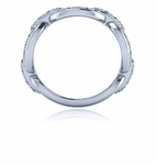 Anchor Mariner Pave Chain Link Cubic Zirconia Anniversary Band - Small