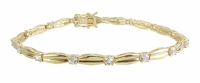 Andria 14K Yellow Gold and Round Cubic Zirconia Line Style Tennis Bracelet