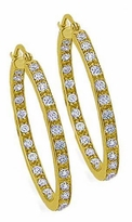 Anniston Medium Inside Out Cubic Zirconia Hoop Earrings