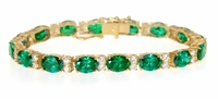 Aragon Alternating Oval and Round Cubic Zirconia Bracelet