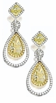 Armandi 3 Carat Pear Cubic Zirconia Double Halo Pave Drop Earrings