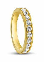 Armitage Round Channel Set Cubic Zirconia Anniversary Band