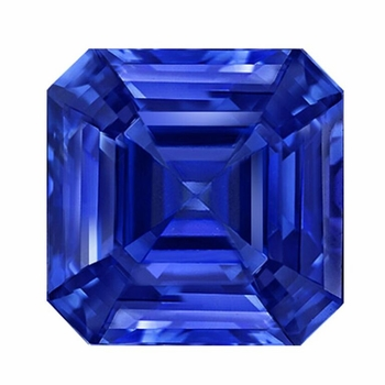 Asscher Cut Blue Sapphire Lab Created Synthetic Loose Stones