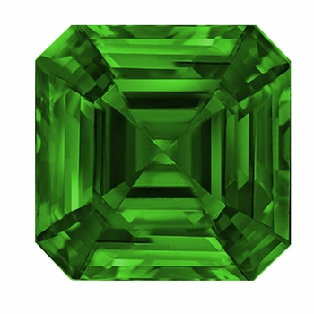 Asscher Cut Emerald Lab Created Simulated Loose Stones