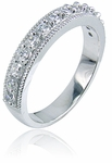 Aubrey 1.5 Carat Round Cubic Zirconia Cathedral Wedding Set