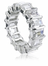 Bar Set Emerald Cut Cubic Zirconia Eternity Bands