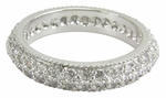 Bellgica Double Row Pave Milgrain Cubic Zirconia Eternity Band