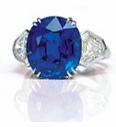 Belluna Oval Man Made Sapphire Half Round Cubic Zirconia Ring