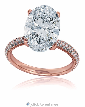 Blake 9 Carat Oval Cubic Zirconia Rose Gold Engagement Ring Inspiration